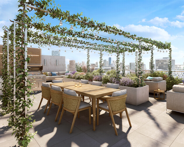 rooftop terrace at 208 delancey street lower east side