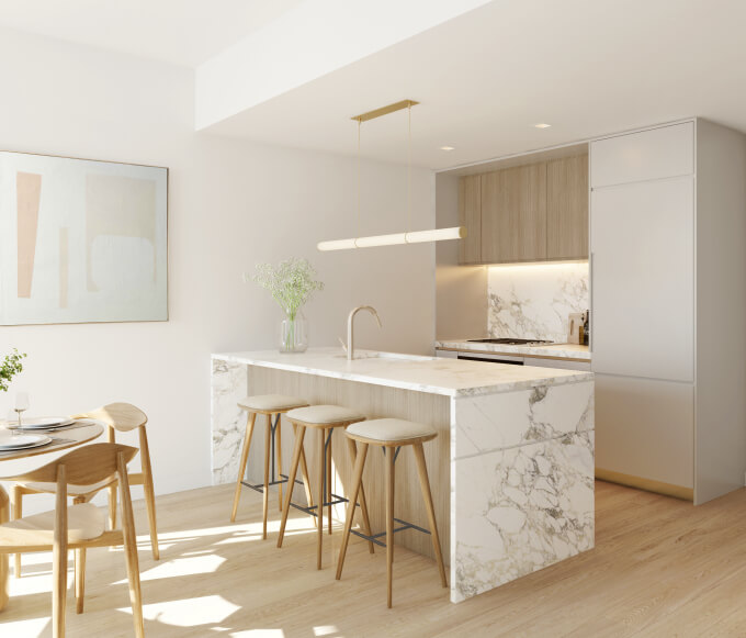 marble kitchen counters sink lower east side condo