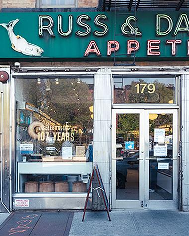 russ & daughters restaurant lower east side